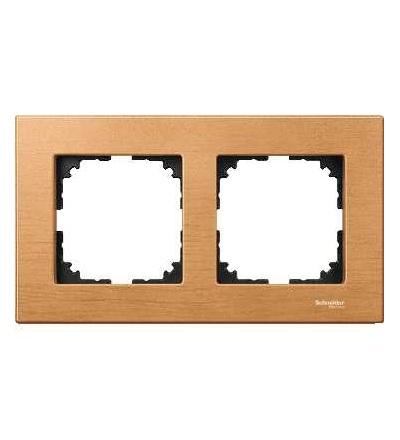Schneider Electric MTN4052-3470 Merten M-Elegance Wood, krycí rámeček, 2-násobný, beech