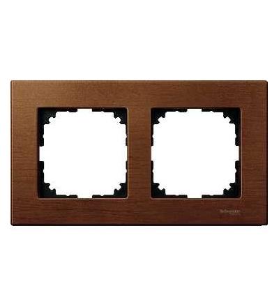Schneider Electric MTN4052-3472 Merten M-Elegance Wood, krycí rámeček, 2-násobný, cherry wood