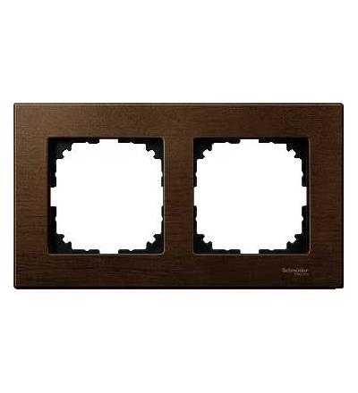 Schneider Electric MTN4052-3473 Merten M-Elegance Wood, krycí rámeček, 2-násobný, walnut