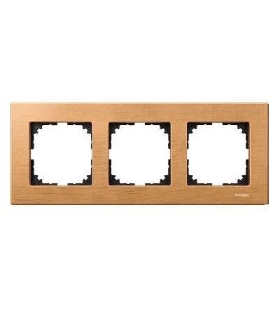 Schneider Electric MTN4053-3470 Merten M-Elegance Wood, krycí rámeček, 3-násobný, beech