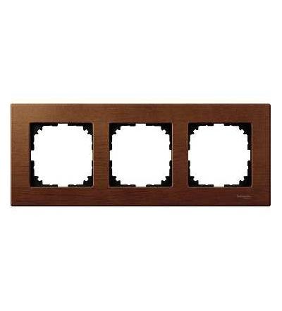 Schneider Electric MTN4053-3472 Merten M-Elegance Wood, krycí rámeček, 3-násobný, cherry wood