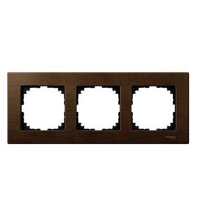 Schneider Electric MTN4053-3473 Merten M-Elegance Wood, krycí rámeček, 3-násobný, walnut
