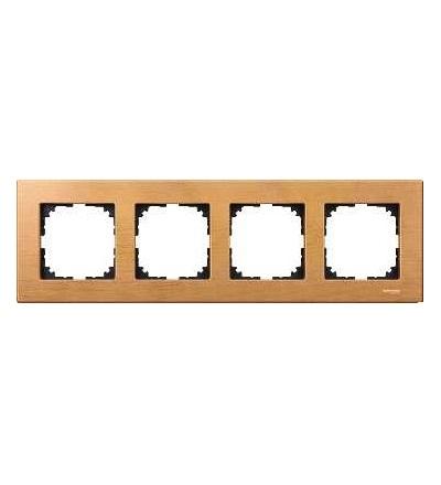 Schneider Electric MTN4054-3470 Merten M-Elegance Wood, krycí rámeček, 4-násobný, beech