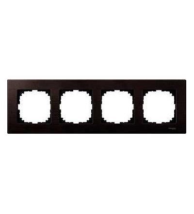 Schneider Electric MTN4054-3471 Merten M-Elegance Wood, krycí rámeček, 4-násobný, wenge