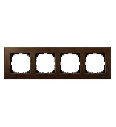Schneider Electric MTN4054-3473 Merten M-Elegance Wood, krycí rámeček, 4-násobný, walnut