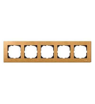 Schneider Electric MTN4055-3470 Merten M-Elegance Wood, krycí rámeček, 5-násobný, beech