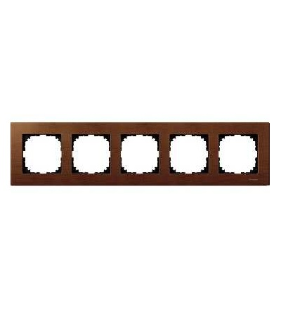 Schneider Electric MTN4055-3472 Merten M-Elegance Wood, krycí rámeček, 5-násobný, cherry wood