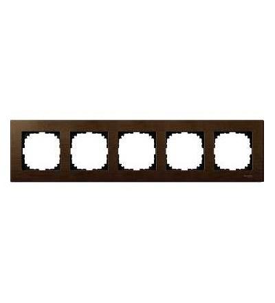 Schneider Electric MTN4055-3473 Merten M-Elegance Wood, krycí rámeček, 5-násobný, walnut