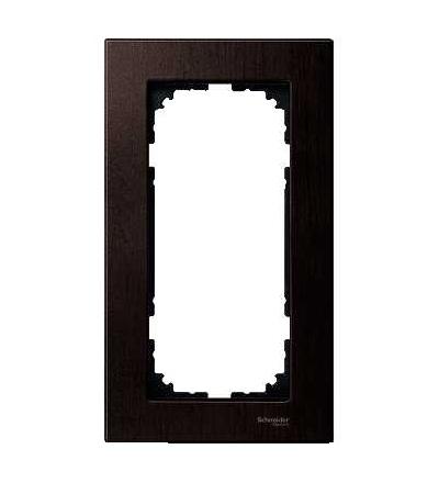 Schneider Electric MTN4058-3471 Merten M-Elegance Glass, krycí rámeček, 2-nás. bez stř. můstku., wenge