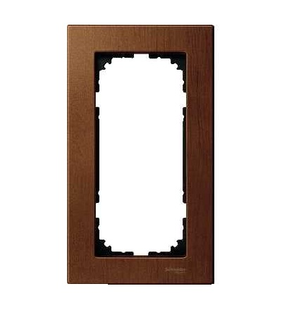 Schneider Electric MTN4058-3472 Merten M-Elegance Glass, krycí rámeček, 2-nás. bez stř. můstku., cherry