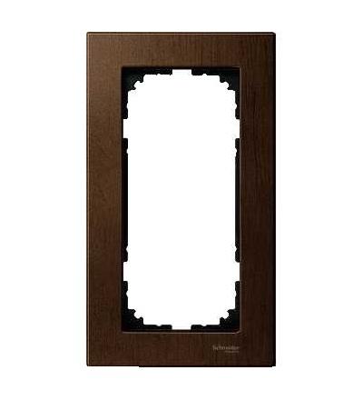 Schneider Electric MTN4058-3473 Merten M-Elegance Glass, krycí rámeček, 2-nás. bez stř. můstku., walnut