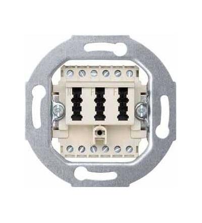 Schneider Electric MTN465226 Merten, telefon. zásuvka TAE, trojitá, 2×6/6 NF/F, bílá