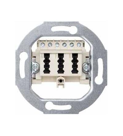 Schneider Electric MTN465236 Merten, telefon. zásuvka TAE, trojitá, 3x6 NFN, bílá