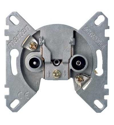 Schneider Electric MTN466099 Merten, mechanismus koncové anténní zásuvky, 2 výstupy R/TV+SAT