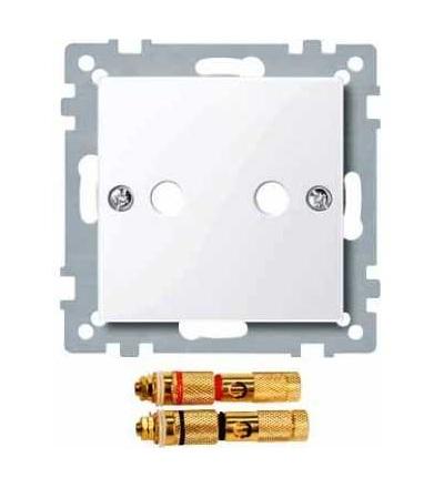 Schneider Electric MTN468825 Merten, System M, kryt pro zásuvku rep.+2xcinch, active white