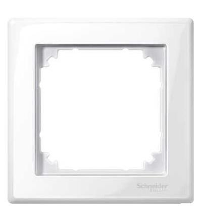 Schneider Electric MTN478119 Merten M-Smart, krycí rámeček, 1-násobný, polar white