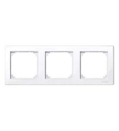 Schneider Electric MTN478325 Merten M-Smart, krycí rámeček, 3-násobný, active white