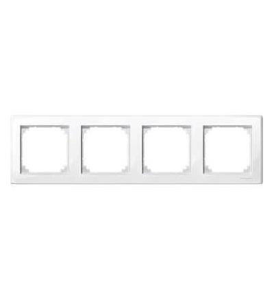 Schneider Electric MTN478419 Merten M-Smart, krycí rámeček, 4-násobný, polar white