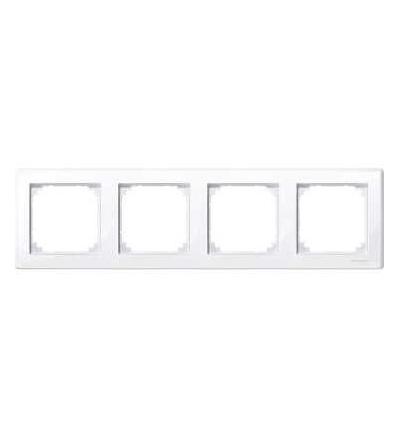 Schneider Electric MTN478425 Merten M-Smart, krycí rámeček, 4-násobný, active white