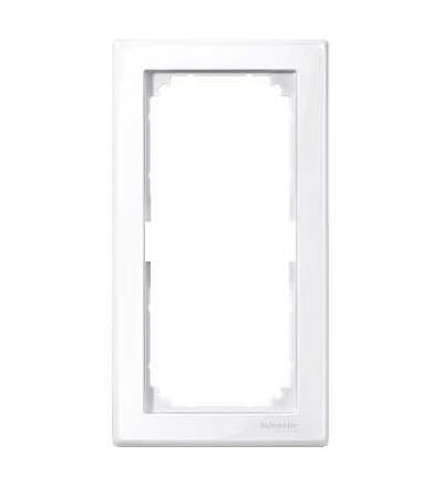 Schneider Electric MTN478825 Merten M-Smart, krycí rámeček, 2-násobný bez středního můstku, active white