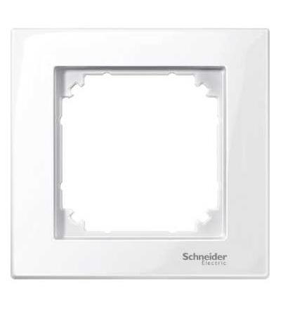 Schneider Electric MTN515125 Merten M-Plan, krycí rámeček, 1-násobný, active white