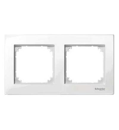 Schneider Electric MTN515219 Merten M-Plan, krycí rámeček, 2-násobný, polar white