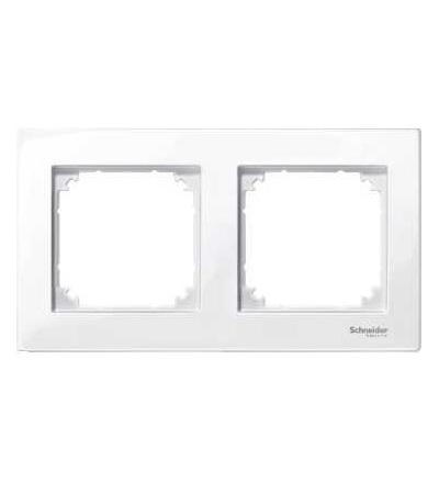 Schneider Electric MTN515225 Merten M-Plan, krycí rámeček, 2-násobný, active white