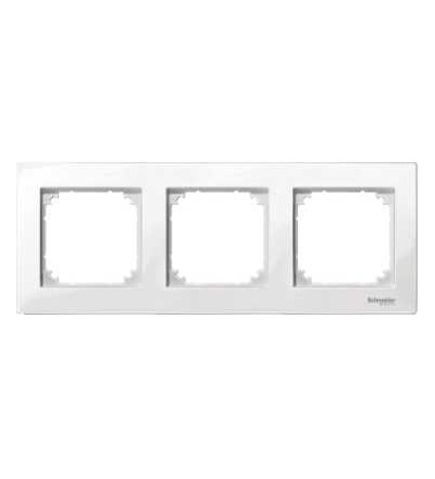 Schneider Electric MTN515319 Merten M-Plan, krycí rámeček, 3-násobný, polar white