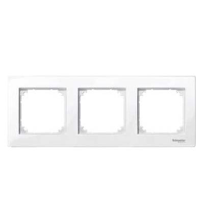 Schneider Electric MTN515325 Merten M-Plan, krycí rámeček, 3-násobný, active white