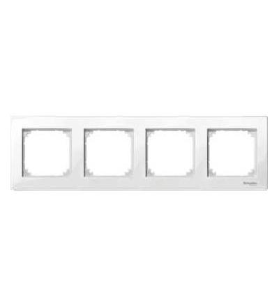 Schneider Electric MTN515419 Merten M-Plan, krycí rámeček, 4-násobný, polar white