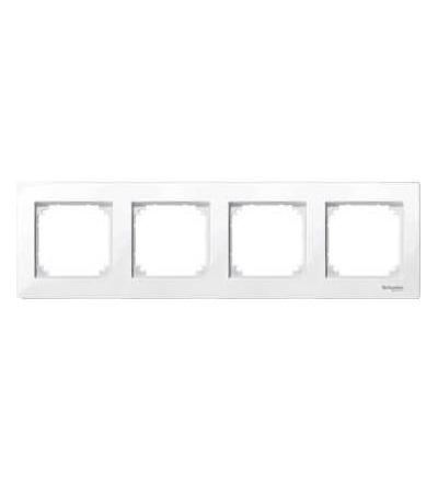 Schneider Electric MTN515425 Merten M-Plan, krycí rámeček, 4-násobný, active white