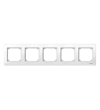 Schneider Electric MTN515519 Merten M-Plan, krycí rámeček, 5-násobný, polar white