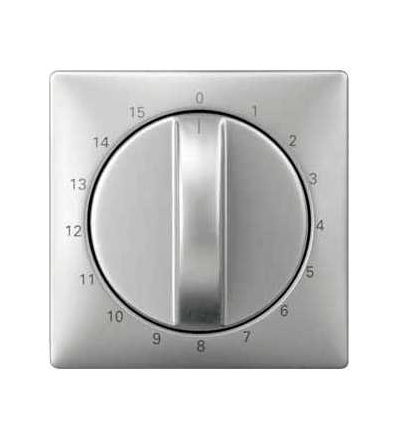 Schneider Electric MTN538346 Merten-centr.deska pro mech.čas.spínače-15min-nerez.ocel-Artec/Trancent/Antique