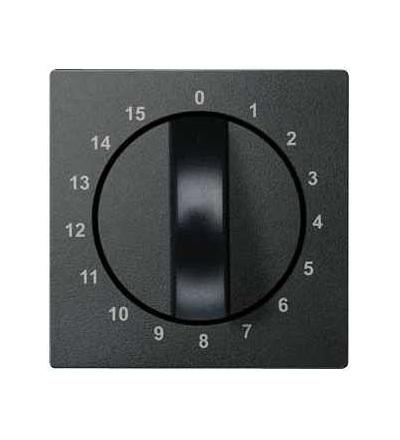 Schneider Electric MTN539014 Merten, System M, centrál.deska pro mech. časového spínače-15min-antracit