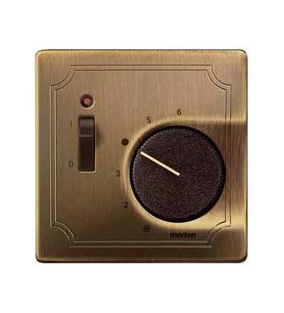 Schneider Electric MTN539743 Merten-cent.deska pro vlož.ovl.teploty pokoje se spínačem-Artec/Trancent/Antique