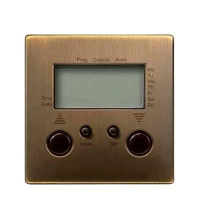 Schneider Electric MTN584143 Merten, časový spínač rolet/žaluzií, antique brass, Artec/Trancent/Antique