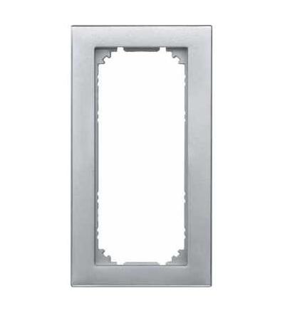 Schneider Electric MTN587360 Merten M-Plan, rámeček, 2nás. bez středního můstku, aluminium