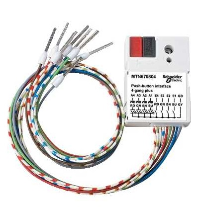 Schneider Electric MTN670804 KNX tlačítkové rozhraní 4-násobné plus, Polar