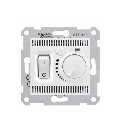 SDN6000321 Sedna-termostat pro podlahové vytápění otočný s vypínačem-10A bez rámečku- polar, Schneider Electric