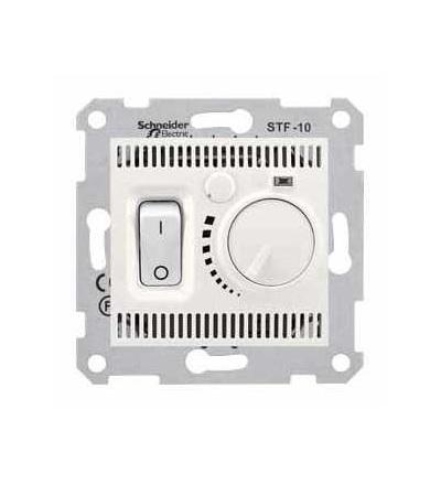 SDN6000323 Sedna-termostat pro podlahové vytápění otočný s vypínačem-10A bez rámečku- cream, Schneider Electric