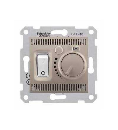 SDN6000368 Sedna-termostat pro podlahové vytápění otočný s vypínačem-10A bez rámečku- titan, Schneider Electric