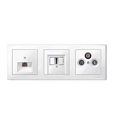 Schneider Electric MTN478319 Merten M-Smart, krycí rámeček, 3-násobný, polar white
