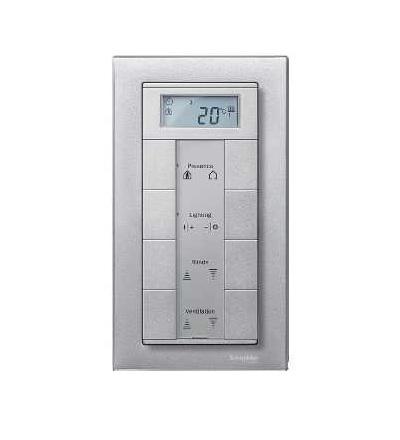 Schneider Electric MTN488860 Merten M-Plan, rámeček, dvojnásobný bez středního můstku, aluminium