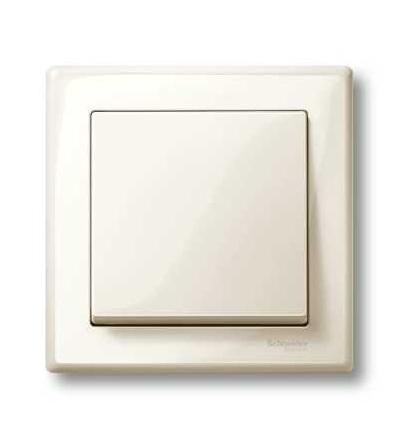 Schneider Electric MTN478144 Merten M-Smart, krycí rámeček, 1-násobný, white cream