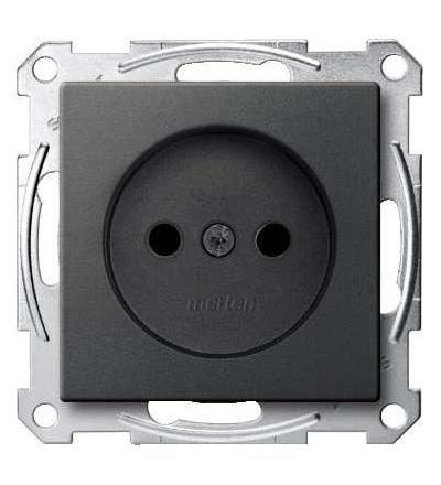 Schneider Electric MTN2000-0414 Merten, System M, zás. bez PE kontaktu, krytka, šroubové svorky, antracit