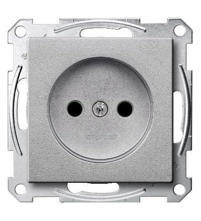 Schneider Electric MTN2000-0460 Merten, System M, zás. bez PE kontaktu, krytka, šroubové svorky, alumin