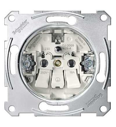 Schneider Electric MTN2500-0000 Merten, mechanizmus zásuvka 1x2p+PE, 16A 250VAC, pružinové svorky