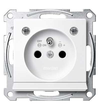 Schneider Electric MTN2504-0325 Merten, System M, zásuvka 1x2p+PE s cl a LED, 16A 250VAC, pruž. sv., active