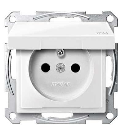 Schneider Electric MTN2514-0319 Merten, System M, zásuvka 1x2p+PE s cl, 16A 250VAC, IP44, pruž. sv., pol