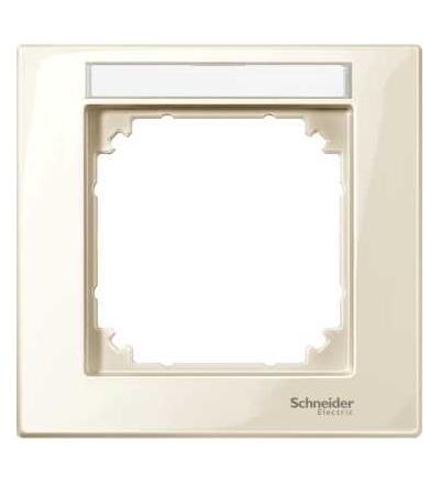 Schneider Electric MTN514144 Merten M-Plan, rámeček, jednonásobný, s popisovým polem, white